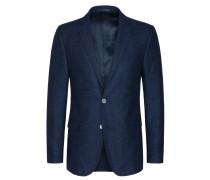 Hochwertiges Struktur-Sakko mit Perlmuttknöpfen von Tom Rusborg Premium in M.blau für Herren