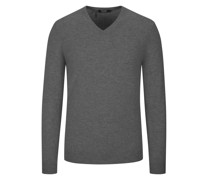 Pullover aus 100% Kaschmir  Anthrazit
