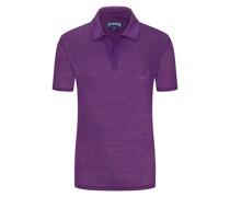 Poloshirt aus Leinen  Berry