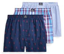 Boxer-Short aus 100% Baumwolle Marine