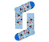 Socken mit Muster  Hell