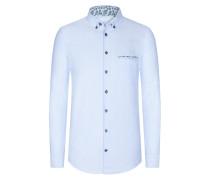Strukturiertes Freizeithemd von Tom in Hellblau für Herren