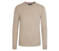 Bequemer O-Neck Pullover von Tom Rusborg in Beige für Herren