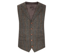 Hochwertige Weste aus 100% Schurwolle, Harris Tweed von Tom Rusborg in Gruen für Herren
