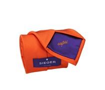 Edle Krawatte, uni von Sieger in Orange für Herren