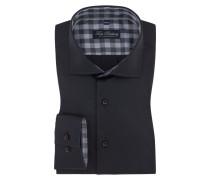 Businesshemd mit extra kurzem Arm von Tom Rusborg in Schwarz für Herren