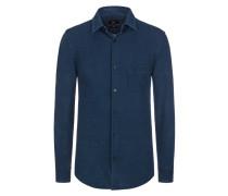 Schmal geschnittenes Jersey-Hemd von Boss in Blau für Herren
