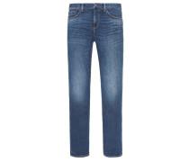Modische Stretch-Jeans im Used-Look, Denton Straight Fit von Tommy Hilfiger in Blau für Herren