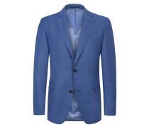 Sakko in Minimalstruktur, Comfort Fit in Blau