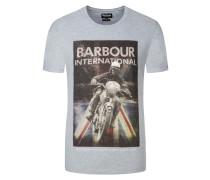 T-Shirt mit markantem Frontprint von Barbour International in Grau für Herren