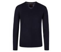 V-Neck Pullover aus 100% Kaschmir von Tom Rusborg Premium in Marine für Herren