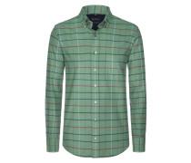 Kariertes Flanellhemd von Tom Rusborg in Gruen für Herren