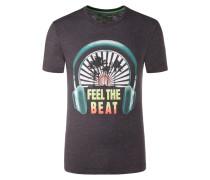 T-Shirt in melierter Optik von Tom Made In Heaven in Anthrazit für Herren