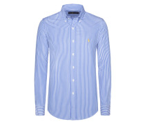 Gestreiftes Hemd mit Button-Down-Kragen, Custom Fit von Polo Ralph Lauren in Blau für Herren