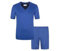 Sportiver Pyjama mit praktischer Brusttasche von Novila in Blau für Herren