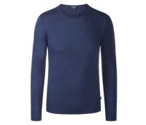 Edler, angenehm leichter Pullover aus ,Baumwolle/Wolle' von Armani Jeans in Blau für Herren