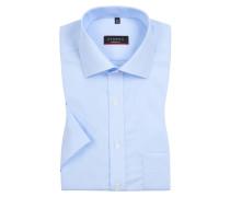 Modern Fit Kurzarmhemd mit Kentkragen von Eterna in Blau für Herren
