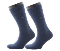Doppelpack - Socken von Tommy Hilfiger in Blau für Herren