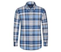 Aktuelles Flanellhemd aus 100% Baumwolle von Tom Rusborg in Royal für Herren