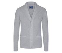 Pique-Cardigan mit Schalkragen von Gant in Silber für Herren