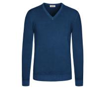 Weicher Pullover aus 100% Merinowolle von Heritage in Royal für Herren