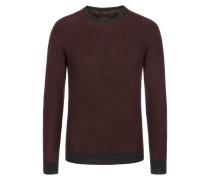 Aktueller Tricolour Pullover aus 100% Kaschmir von Tom Rusborg Premium in Anthrazit für Herren