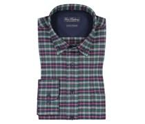 Flanellhemd mit Karo-Muster  Gruen