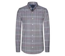 Kariertes Flanellhemd von Tom Rusborg in Silber für Herren
