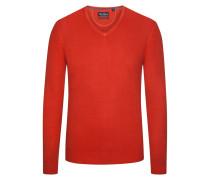Pullover aus 100% Merinwolle von Tom Rusborg in Rost für Herren
