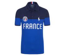 Frankreich Poloshirt, Custom-Fit von Polo Ralph Lauren in Marine für Herren