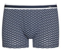 Shorts im Baumwollmix, Auto-Muster von Mey in Marine für Herren