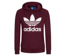Klassisches Sweatshirt, Hoody mit Trefoil von Adidas in Bordeaux für Herren