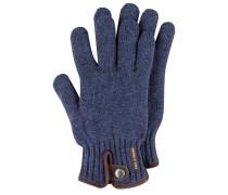 Strick-Handschuhe mit Lederapplikationen von Paul & Shark in Lila für Herren