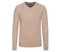 Pullover im Merino-Mix, V-Neck