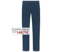 Flatfronthose in weicher Baumwollqualität von Eurex in Blau für Herren