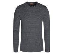 Pullover aus 100% Merinowolle von Stenströms in Anthrazit für Herren