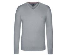 V-Neck Pullover, Cotton Cashmere von Tommy Hilfiger in Grau für Herren