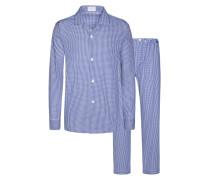 Karierter Pyjama von Novila in Blau für Herren