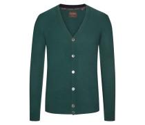 Kaschmir-Strickjacke mit tiefem V-Ausschnitt von Tom Rusborg Premium in Oliv für Herren