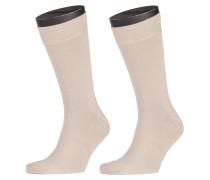 Socken Doppelpack von Tom Rusborg in Beige für Herren