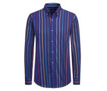 Gestreiftes Popeline-Freizeithemd von Paul & Shark in Blau für Herren