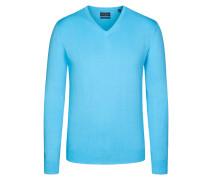 V-Neck Basic Pullover von Tom Rusborg in Hellblau für Herren