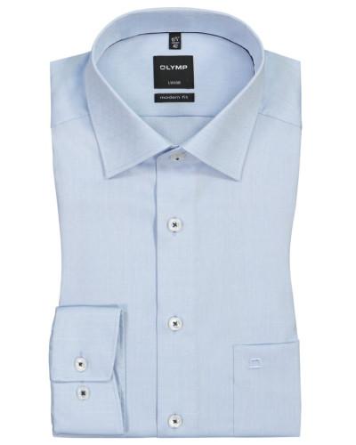 Luxor Modern Fit, Oberhemd mit Brusttasche in Blau