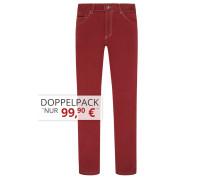 Sommerliche Baumwoll-Mix Jeans von Tom Rusborg in Rot für Herren
