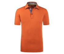 Poloshirt in Slub-Yarn-Optik von Tom Made In Heaven in Orange für Herren
