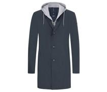 Mantel mit modischer Sweat-Blende, Yanek  Marine