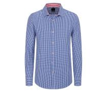 Slim Fit Vichy-Karo Trachtenhemd von Tom in Blau für Herren