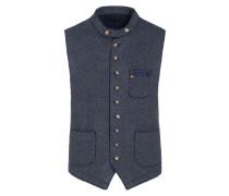 Außergewöhnliche Muster-Weste aus softem Schurwollmix von Schneiders in Blau-grau für Herren