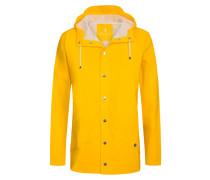Regenjacke mit Kapuze in Gelb