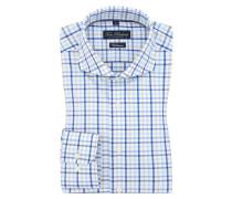 Kariertes Businesshemd, Vollzwirn von Tom Rusborg in Blau für Herren